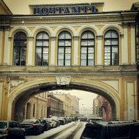 Photo taken at Санкт-Петербургский почтамт 190000 by Keron on 2/19/2013