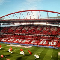 Photo taken at Estádio do Sport Lisboa e Benfica by Paulo R. on 4/21/2013