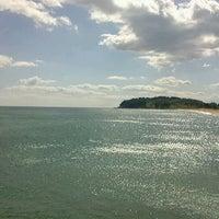 Photo taken at Sokcho Beach by Jeong Won K. on 9/29/2012