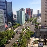 Photo taken at Av. Paseo de la Reforma by Gustavo V. on 4/9/2013