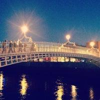 Photo taken at The Ha'penny (Liffey) Bridge by Maurizio Z. on 1/14/2013