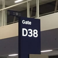 Photo taken at Gate D38 by Michael on 10/10/2016