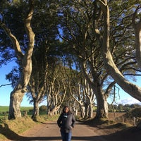 Photo taken at The Dark Hedges by Roshan on 10/6/2016