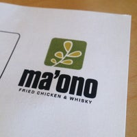 Photo taken at Ma'ono Fried Chicken & Whisky by Jana O. on 3/16/2013