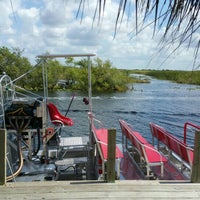 Photo taken at Buffalo Tiger's Airboat Rides by Anthony R. on 5/1/2016