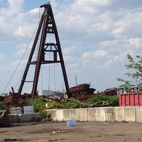Photo taken at Staten Island Tugboat Graveyard by Cari on 6/16/2013