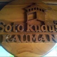 Photo taken at Soto Kudus Kauman by Ahmad A. on 4/16/2013