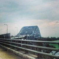 Photo taken at Piscataqua River Bridge by Jake S. on 8/31/2013
