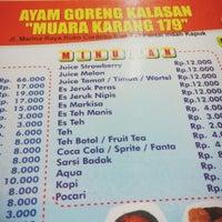 """Photo taken at Ayam Goreng Kalasan """"Muara Karang 179"""" by Kuan Liang on 10/20/2013"""