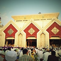Photo taken at Masjid Agung At-Tin by Anto T. on 10/25/2012