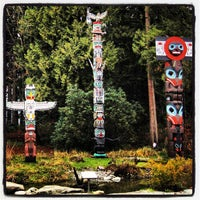 Photo taken at Totem Poles in Stanley Park by iDork 👹 G. on 1/17/2013