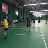 Photo taken at CC Badminton Court by Zermukkii X. on 3/14/2016