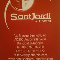 Photo taken at Hotel Sant Jordi by Dmitry Y. on 2/10/2016