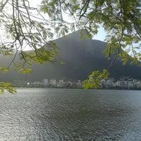 Photo taken at Lagoa Rodrigo de Freitas by Romy A. on 7/28/2013