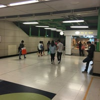 Photo taken at MTR Kowloon Bay Station 九龍灣站 by Ivan L. on 4/5/2016