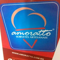 Photo taken at Amoratto Sorvetes Artesanais by Gabriel V. on 1/1/2014