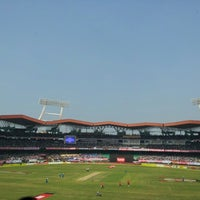 Photo taken at Jawaharlal Nehru Stadium by Achuth M. on 1/15/2013