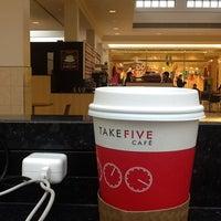 Photo taken at Take Five Cafe Richmond Centre by DM on 4/9/2013