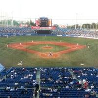 Photo taken at Meiji Jingu Stadium by bakerattahancho on 5/15/2013