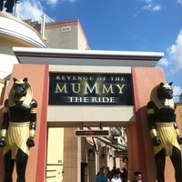 Photo taken at Revenge of the Mummy - The Ride by Rob G. on 10/10/2012
