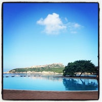 Photo taken at Colonna Hotel Capo Testa by Beate on 9/7/2013