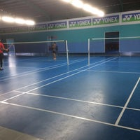 Photo taken at Pro One Badminton Centre by Pok S. on 11/20/2016