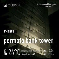 Photo taken at Permata Bank Tower Sudirman by Erfira S. on 1/22/2013