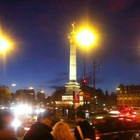 Photo taken at Café Bastille by Olga S. on 12/1/2012