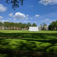 Photo taken at Vincent Square Playing Fields by Anton on 5/15/2016