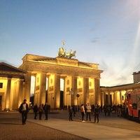Photo taken at Brandenburg Gate by Sanjeet Raj P. on 4/25/2013