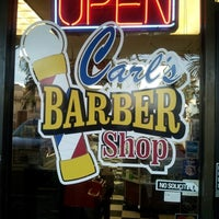 Photo taken at Carl's Barber Shop by Sean F. on 12/14/2012