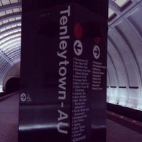 Photo taken at Tenleytown-AU Metro Station by Meron Z. on 5/5/2013