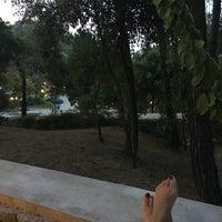 Photo taken at Makryammos Bungalows by Nursen K. on 8/22/2016