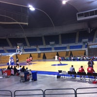 Photo taken at Palacio de los Deportes by Ecem Pınar K. on 4/20/2013