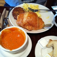Photo taken at la Madeleine Country French Café by Liz G. on 11/29/2013