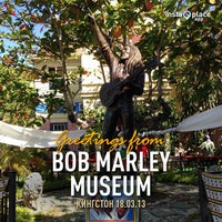 Photo taken at Bob Marley Museum by Артем К. on 3/18/2013