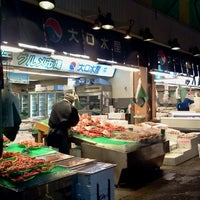 Photo taken at Omicho Market by Ikehan3 on 12/19/2012