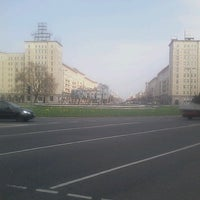 Photo taken at Karl-Marx-Allee by .oo. on 4/22/2013