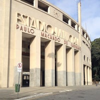 Photo taken at Estádio Municipal Paulo Machado de Carvalho (Pacaembu) by João Lucas on 5/9/2013