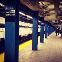 Photo taken at MTA Subway - Jay St/MetroTech (A/C/F/R) by Pao C. on 12/10/2012