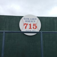 Photo taken at Hank Aaron 715 Home Run Marker by Jake C. on 5/2/2013