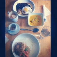 Photo taken at Fraiche Bakery & Cafe by Arisa K. on 10/4/2012