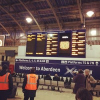 Photo taken at Aberdeen Railway Station (ABD) by Bruce S. on 11/5/2012