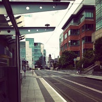 Photo taken at George's Dock Luas by Maria S. on 7/6/2014