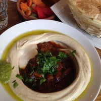 Photo taken at Reggev Hummus by Nemo C. on 5/9/2014