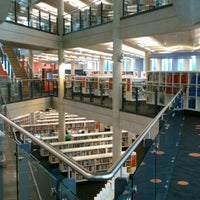 Photo taken at Cardiff Central Library by Nacho on 5/24/2013