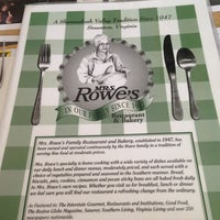 Photo taken at Mrs. Rowe's Restaurant by boy adam L. on 6/19/2013