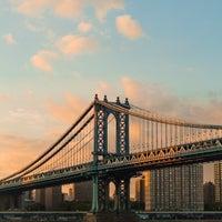 Photo taken at Manhattan Bridge by sam m. on 7/28/2013