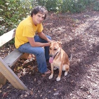 Photo taken at Warnimont Dog Park by Melissa T. on 9/30/2012