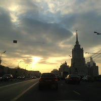 Photo taken at Краснопресненская набережная by Alisha S. on 2/20/2013